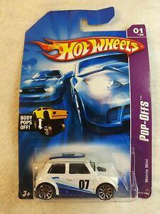 2006 Hot Wheels #37 Pop Offs Series 1/4 Morris Mini White Blue