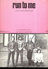 """THE BEE GEES Sheet Music """"Run To Me"""""""