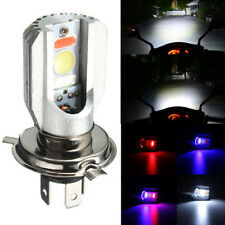 H4 Motorcycle COB LED Headlight Hi/Lo Beam Front Light Bulb Lamp 3 Color 6500K