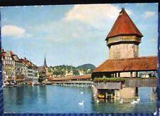 Switzerland Luzern Kapellbrucke und Wasserturm - unposted