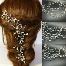 Pearls Wedding Hair Vine Crystal Bridal Accessories Diamante Headbands 1 Piece