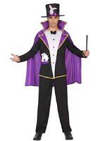Déguisement Homme MAGICIEN violet noir S Adulte Lapin Drôle NEUF Pas cher
