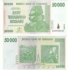 Zimbabwe 50000 Dollars 2008 P-74a UNC Uncirculated Banknote