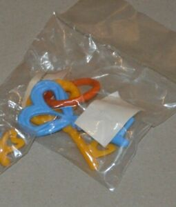 seltene Originale Babyklapper 2 Schlüssel DDR OVP mit Preiszettel EVP 2,00 M