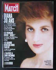 PARIS MATCH 1991 ANNIVERSAIRE LES 30 ANS DE  LADY DIANA NATHALIE BAYE MITTERRAND