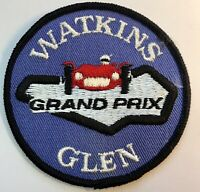 VTG 70s WATKINS GLEN Grand Prix Embroidered Patch Auto Racing Raceway Speedway