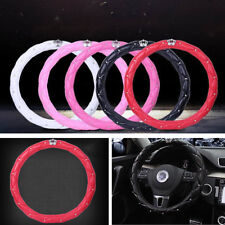 PU leather 38CM Red Queen's luxury fashion Leather Car steering wheel cover