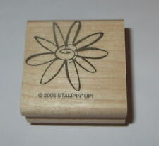 Flower Stampin' Up! Rubber Stamp Wood Mounted Retired Daisy Petals