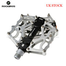 RockBros Mountain Bike Pedal Aluminum Alloy MTB Sealed Bearing Pedal 9/16 Silver
