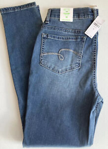 NWT Justice Girls Size 18 Blue Jeggings Stretch High Rise Black Sequins Distress