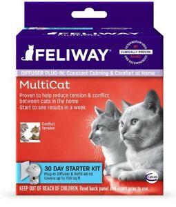 FELIWAY MultiCat Diffuser Starter Kit,  48 ML, 30 DAYS
