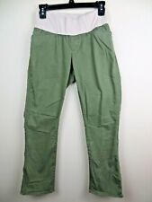 Womens Gap Maternity Chino Khaki green pants size 0 bootcut stretch demi band