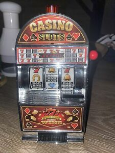WEMBLEY HERITAGE SAVINGS BANK SLOT MACHINE, REAL ACTION WITH LIGHTS AND SOUNDS,
