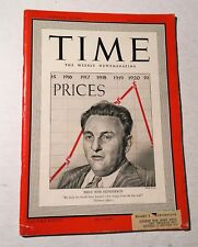 Vintage Time Magazine May 12 1941 Back Issue Price Boss Henderson WWII News
