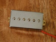 HUMBUCKER SIZED P90 NECK PICKUP ALNICO 2 MAGNETS IN CHROME