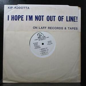 "Kip Addotta - I Hope I'm Not Out Of Line! VG+ Promo 12"" Laff A-215 USA 1981"