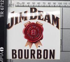 Jim Beam Sticker Beer Car Wall Slab Bottle Bourbon Whiskey Straight Full Colour