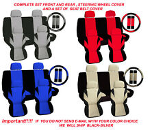 13 Piece Set Car Seat Covers and Accessories 2001-2004 Ford Escape Choose Color