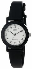 Casio LQ139B-1B, Classic Black Analog Watch, Black Resin Band, White Dial