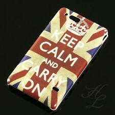 Sony Ericsson ST27i Xperia Go Hard Handy Case Schutz Hülle Etui Schale Keep Calm