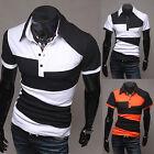 Fashion Men's Slim Fit Casual Polo Shirt T-Shirt Short Sleeve Tee Tops M-XXL