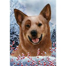 Winter House Flag - Red Australian Cattle Dog 15281