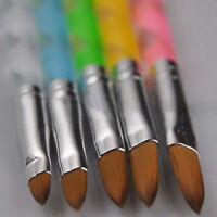 5Pcs Acrylic 3D Painting Drawing UV Gel Carve DIY Brush Pen Tool Nail Art SetEN