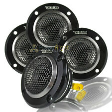 "New listing 4 Ds18 Super Bullet Tweeters 280 Watts Max 4 Ohm Neodymium Magnet Pro-Twn4 1"" Vc"