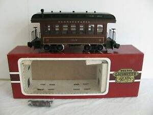 Delton Locomotive Works G Scale Lighted Pennsylvania Passenger Coach Car #3210