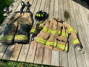 GLOBE G-XTREME FIREFIGHTER TURNOUT SUIT AND CAIRNS 1010 HELMET! FREE SHIPPING!