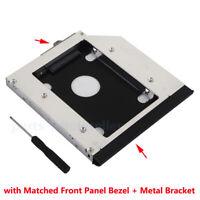 Bezel Panel 2nd HDD SSD Hard Drive Optical Caddy for HP ProBook Compaq EliteBook