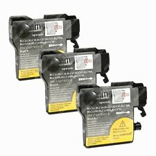3-PK Black Ink Cartridge LC-61 for Brother DCP 145C 165c 195C 197C 365CN Printer