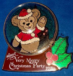 DISNEY WDW 2013 MICKEYS VERY MERRY CHRISTMAS PARTY DUFFY SNOW GLOBE LE 3000 PIN