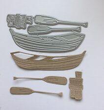 Craft Die Rowing Boat, Oars. Cards, Scrapbooking. UK Seller