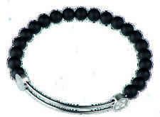 sérieux Conception Bracelet Bangle, a218 avec givré Onyx amovible avec pierres