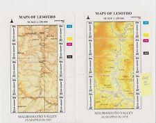 LESOTO Kleinbogen postfrisch mit Maps - Landkarten MALIBAMATSO VALLEY