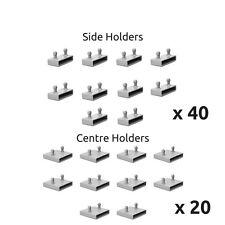 53mm Bed Slat Holders Kits / Bundles for Metal Beds 40 Sides / 20 Centre Holders