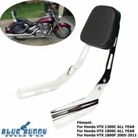 Motorcycle Rear Chrome Backrest Sissy Bar for Honda VTX 1300C 1800C 1800F Steel