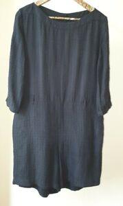 Apc Black Textured Silk Playsuit Size M