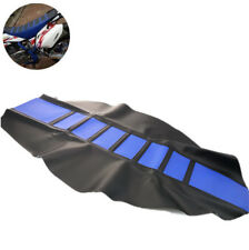 Universal Leather Seat Cover Wrap Protect Custom Blue For Motorcycle Enduro Bike