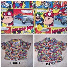 Disney Baby Vintage Style Comic Multi-color Infant Button Up Mickey Shirt 0/3