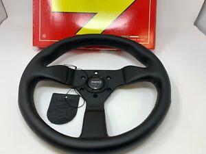 """MOMO Steering Wheel MONTE CARLO Black Leather 320mm  """"US Dealer"""""""