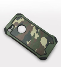 Camouflage iPhone 5 6 7 8 Plus / X Military Case Camo Army Rugged Rubber