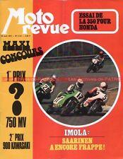 MOTO REVUE 2121 HONDA CB 350 Four ; SOLEX 6000 ; SANGLAS 400 ; IMOLA 1973