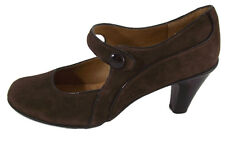 Sofft Womens Mary Jane Heels SIZE 7M Brown Suede Rockabilly Shoes