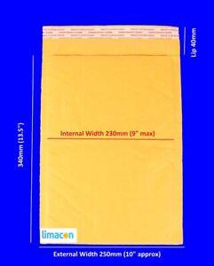 220 x Padded Envelopes 250 x 340mm Bubble Mailer Postal Bags Bubble Envelope