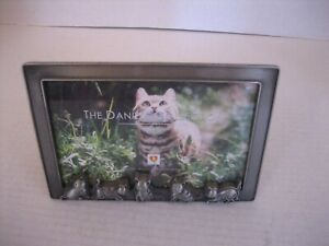 The Daniels  Collection Kitty Cat Pewter Tabletop Picture Frame 6 x 4 NWWT