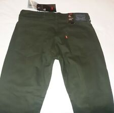 LEVIS 511 slim fit commuter jeans PANTS presidio green 32x34 38x30