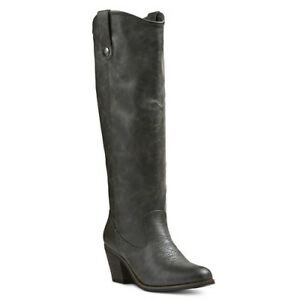 NEW! Mossimo Esmeralda Western Cowboy Tall Boots - Brown or Charcoal/Dark Gray