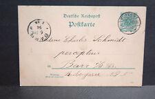 ENTIER POSTAL ALLEMAND 5 pf. VERT oblitéré RUFACH ( ROUFFACH) du 6. 1. 94.(1894)